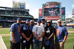Justin Pough and members of the New York Giants offensive line.