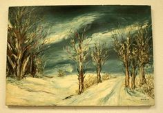 """Original Early Oil Painting by Artist Roy Dimitri Parsons Year 1951 18"""" x 26"""""""