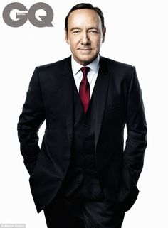 Power player: HOUSE OF CARDS Kevin Spacey poses for a Marco Grobb shoot for GQ magazine.
