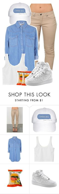 """""""Remember me"""" by kiaratee ❤ liked on Polyvore featuring Topshop, NIKE, women's clothing, women's fashion, women, female, woman, misses and juniors"""