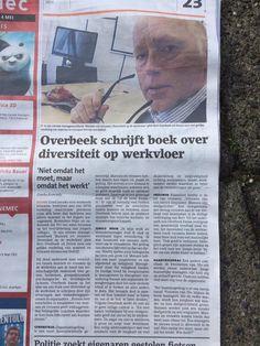 Interview/artikel met auteur #bertoverbeek in lokale krant over zijn boek #mannenenofvrouwen.
