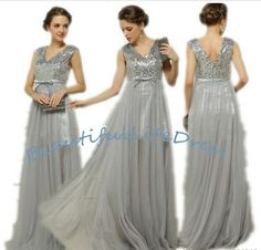 Find More Evening Dresses Information about free shipping V neck sequined tulle silver party dresses Color Available vestido de festa,High Quality dress party wear,China dress party short Suppliers, Cheap dress long party from Beautiful Life Dress on Aliexpress.com