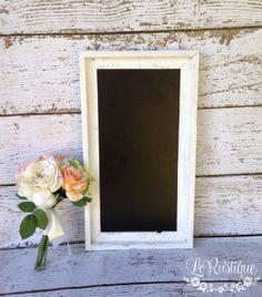 "Rustic Chalkboard Sign, 10"" x 20"" - Large Wedding Sign, Rustic Chalk Board, Magnet Board, Barn Wedding on Etsy, $58.50"