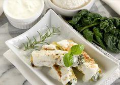 Une recette délicieuse avec une béchamel, parmesan et muscade, et cannellonis farcis avec des épinards à la crème