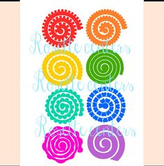 Paper Flower Rolled Rosettes, DIY Paper Roses, Rosette Flower SVG Files, Small Paper Flowers for Favors and Wedding Bouquets Flower Svg, Flower Template, Flower Crafts, Diy Flowers, Rolled Paper Flowers, Paper Rosettes, Diy Paper, Paper Crafts, Felt Flowers Patterns
