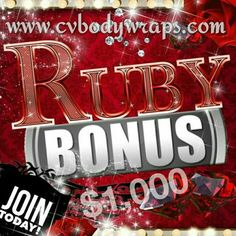 DOUBLE RUBY BONUS !!!            L I M I T E D T I M E  I will personally mentor you with everything, including all the tools to rock your biz on social media.  Make some extra cash for summer fun or change your families legacy.  We can & WILL do this together, you're NOT alone!  Inbox me or text  (210) 294-6764  ASAP for Details!!!  #cvbodywraps  @cvbodywraps