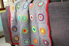 little woollie: Wheels Within Wheels Blanket. Crocheted blanket with pattern link to Ravelry