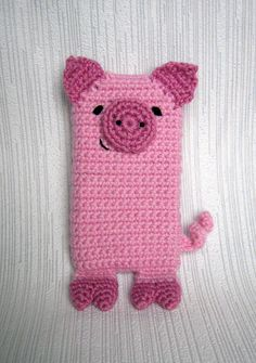 Pink Pig iPhone 5 and 4 case cozy sleeve cover by avpatternshop, $4.00