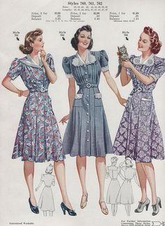 Fashion Frocks 1940 | Flickr - Photo Sharing!
