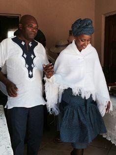 Setswana Traditional Dresses, Traditional Wedding Attire, Traditional Weddings, African Men Fashion, African Fashion Dresses, Fashion Outfits, Women's Fashion, African Attire, African Dress