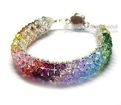 Swarovski Crystal Bracelet, Rainbow Colors