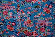 Japanese Cotton, Japanese Kimono, Vintage Japanese, Kimono Fabric, Tone It Up, Cool Fabric, Okinawa, Vintage Fabrics, Bird Prints