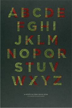 A Stitch in Time Alphabet by Eileen Murphy, via Behance