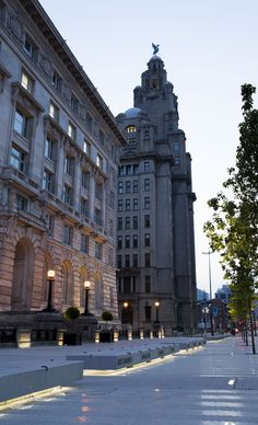 The Voyage - Cunard Building Liverpool, UK – Architectural project: BCA Landscape - Lighting Project: Smiling Wolf – Lighting products: Linealuce, Underscore - Photo: Courtesy of BCA Landscape #Lighting #Light #Luce #Lumière #Licht #Urban #Liverpool #TheVoyage