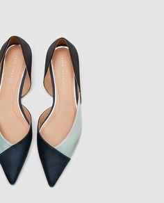 Multicolor flats by Zara Stilettos, High Heels, Sock Shoes, Shoe Boots, Women's Shoes, Zara Australia, Online Zara, Girls Flats, Cute Sneakers