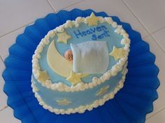 "Heaven Sent - Baby Shower Cake This cake was solely inspired by ""diane"" who made the most adorable baby cake ever, thank you! It..."