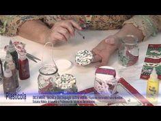Artesanías - Decoupage sobre vidrio, empleando Plasticola - YouTube