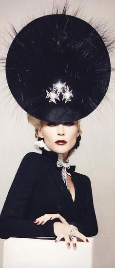 Daphne Guinness and Philip Treacy
