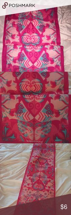 Warriors in pink scarf Never worn. Warriors in pink scarf Accessories Scarves & Wraps
