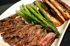 Have Her Over For Dinner: Grilled Skirt Steak and Asparagus with Oven Frites
