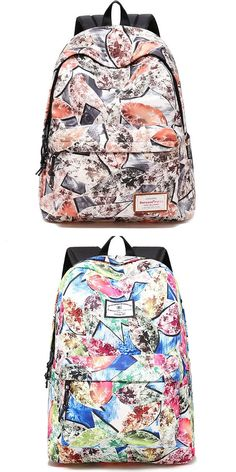Large-size travel backpack with Graffiti leaf print for students – bagsandpurses. Lace Backpack, Striped Backpack, Floral Backpack, Travel Backpack, Travel Bags, Fashion Backpack, Fashion Bags, Messenger Bags For School, Backpack For Teens