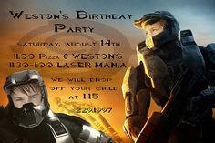 Halo Birthday Invitation