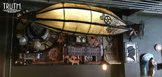 Bella's Scrappin' Space: Steampunk Time Travel Art Installation at Truth Coffee
