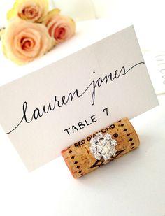 Gemstone Vertical Cork Wedding Place Card Holder Pinterest Cork