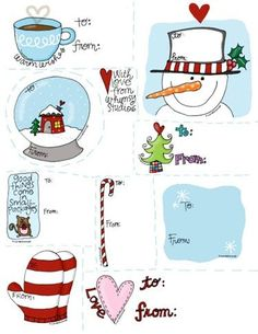free Christmas tag printables