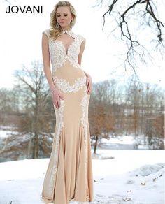 Jovani 89902 Lace Applique Prom Evening Gown Wedding Dress