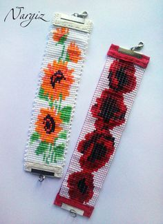 Tear, Loom Beading, Bead Weaving, Seed Beads, Friendship Bracelets, Collar, Floral, Jewelry, Clothes