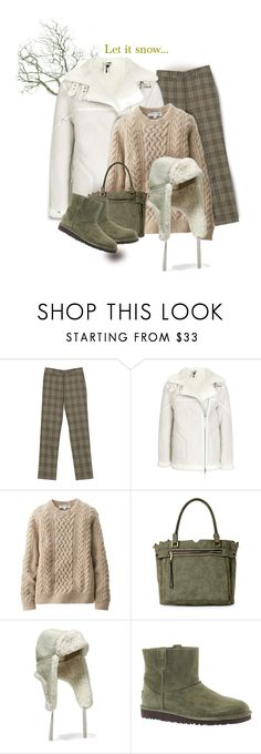 """""""Untitled #4096"""" by kellie-debrandt-mescher ❤ liked on Polyvore featuring Uniqlo, Violet Ray, Maje and UGG"""