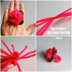 Rose Rings | Pipe Cleaners Crafts