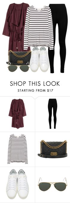 """Sin título #11830"" by vany-alvarado ❤ liked on Polyvore featuring H&M, Wolford, Chanel, Yves Saint Laurent and Ray-Ban"