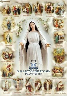 Our Lady of the Rosary, pray for us 🙏 Catholic Prayers, Rosary Catholic, Catholic Art, Catholic Saints, Irish Catholic, Jesus Mother, Blessed Mother Mary, Divine Mother, Blessed Virgin Mary