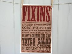Western Party Food or Buffet Sign by InvitationToMars on Etsy, $8.00