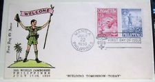 SCOUTS ON STAMPS, BOY SCOUT,1959, PHILIPPINES FDC,CACHET, TWO STAMPS TETE-BECHEE