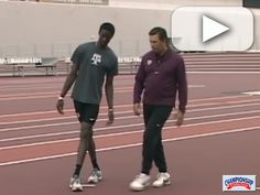 Coach Jim VanHootegem explains a High Jump Curve Mechanics Drill Track And Field Events, Track Field, Track Drill, High Jump, Running Workouts, Cross Country, Coaches, Drills, Fitness