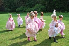 Awww don't they look so cute! Marie Antoinette Dress Up Party!
