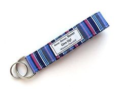 Keychain Wristlet - Fabric Key Lanyard with Words - Never Give Up.