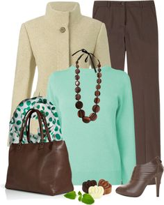 """""""Mint Chocolate Chip"""" by chelseagirlfashion on Polyvore"""