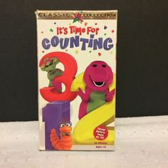 Barney-Its-Time-For-Counting-VHS-1997