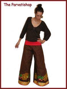 pantalon pattes d'eph, retro flares pants funky hippie, boheme,