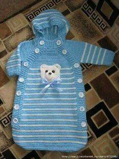 Yeni Doğan örgü Bebek Uyku Tulumu Resimli Yapim Aşamali Pictures Crochet Baby Cocoon, Crochet Bebe, Baby Blanket Crochet, Knitted Baby, Baby Sweater Knitting Pattern, Baby Hats Knitting, Baby Knitting Patterns, Baby Bunting, Baby Blog