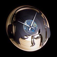 Vinyl-Schallplattenuhr