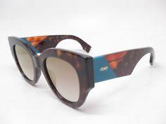 d8f974bd4fa Details about New Authentic Fendi FF 0264 S 086FQ Dark Havana w Grey Gold  Gradient Sunglasses