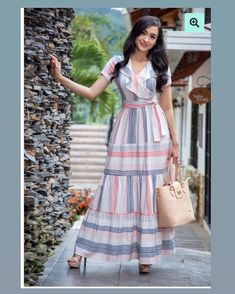Prom Dresses With Sleeves, Simple Dresses, Short Dresses, Casual Dresses, Fashion Dresses, Dress Outfits, Cotton Maxi Dresses, Dresses For Sale, Ladies Frock Design