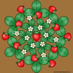 Don't Eat the Paste: Strawberry mandala to color