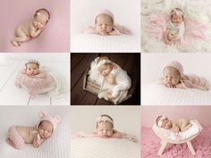 Los Angeles Newborn Baby Photography. Beautiful baby girl! #newbornphotography