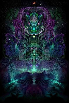 """Third Eye Tapestries - """"Huachuma"""" by Totemical"""